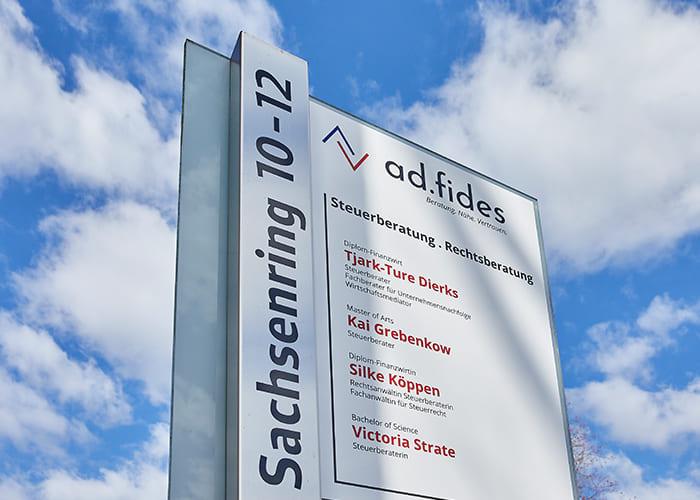 ad.fides Schild